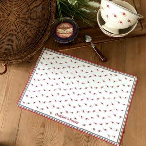 set de table motifs fleurs