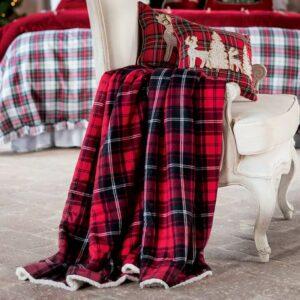 Plaid carreaux rouge blanc Mariclo