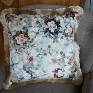 coussin velours blanc mariclo